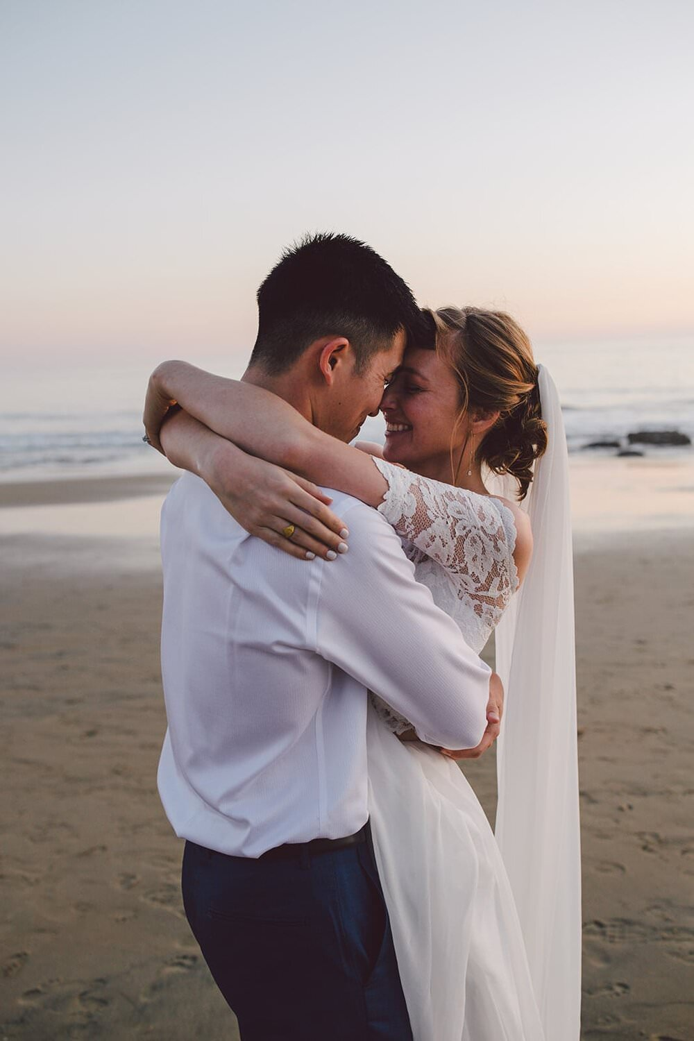 Los angeles wedding, where to elope in california, laguna beach elopement, laguna beach courthouse wedding, orange county wedding photographer, beach elopement locations, grace loves lace wedding dress, two piece wedding dress, california elopement packages, crystal cove state park, crystal cove wedding, california elopement ideas, elopement inspiration, adventure elopement ideas, sunset elopement, sunset wedding, adventure elopement location, national park elopement, beach elopement dress
