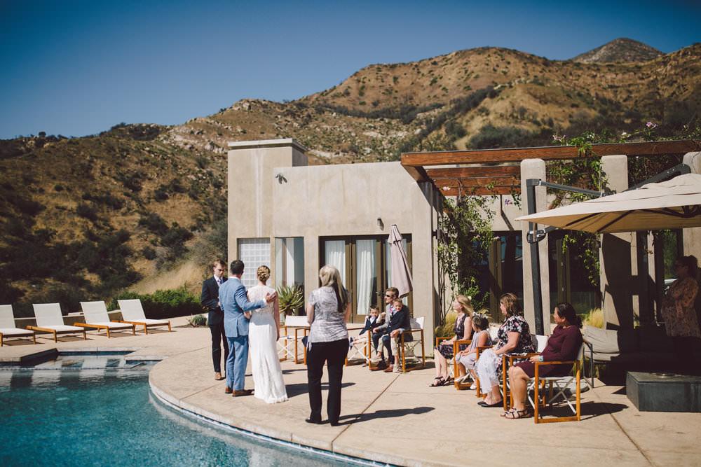 intimate wedding ojai elopement private estate