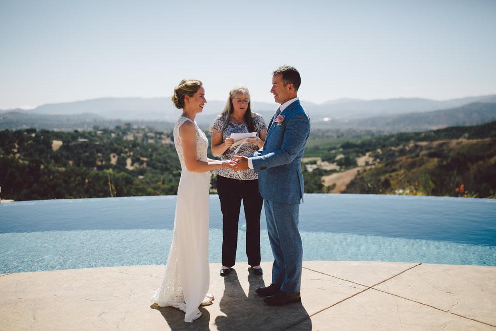 california elopement ojai intimate wedding private estate