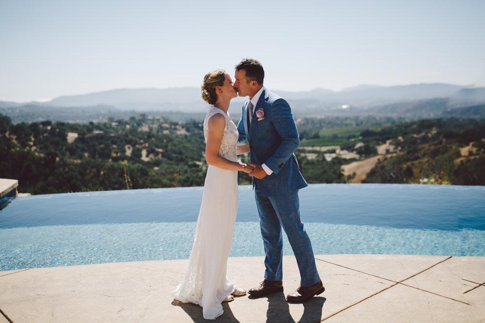 ojai elopement intimate wedding outdoors mountain estate