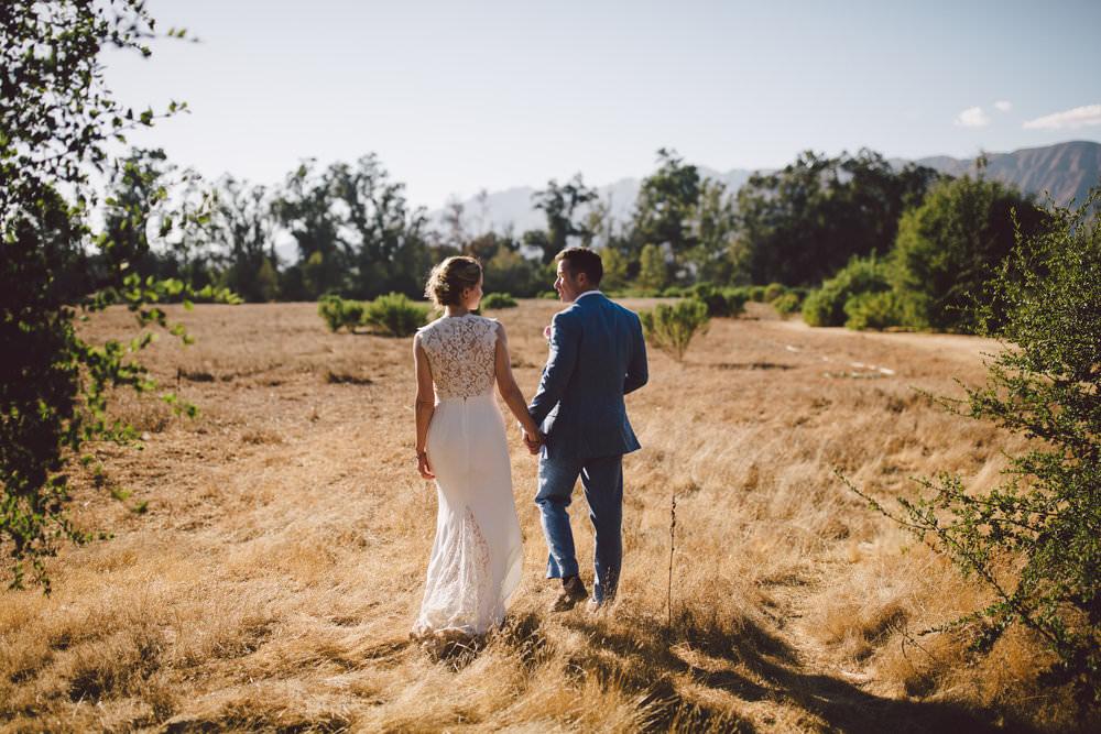 ojai outdoor mountain elopement sunset wedding