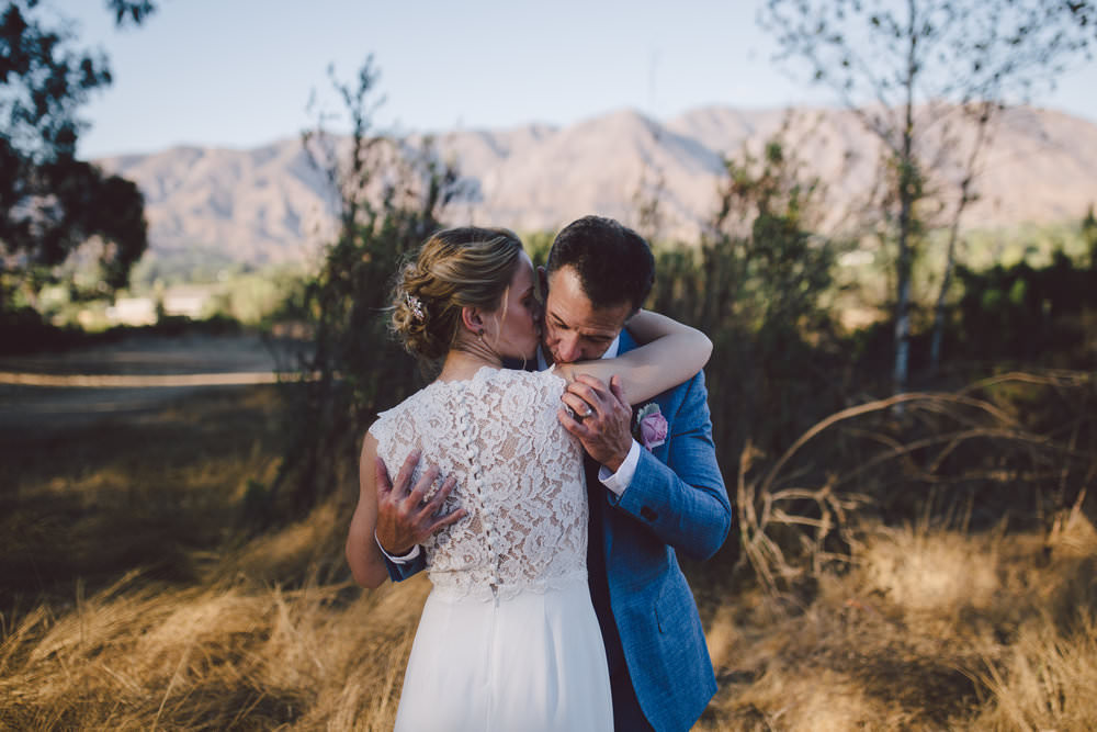 ojai elopement intimate sunset portraits couple