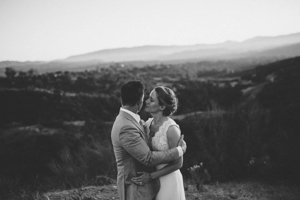 ojai intimate portraits couple elopement sunset mountain wedding