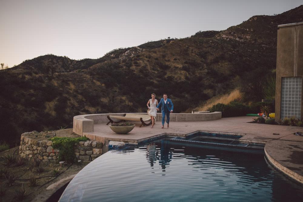 ojai mountain pool elopement private estate
